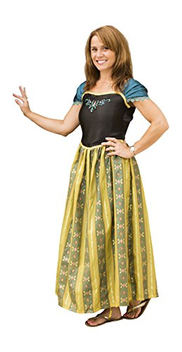 [Women Adult Frozen Anna Princess Costume Dresses for Halloween Party Dress up] (Frozen Costumes Women)