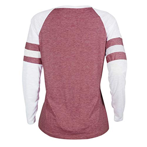 Manches Rose Longues T Dames Blouse Femmes Impression 1 MORCHAN Chat Tops Shirt wYOqW7v