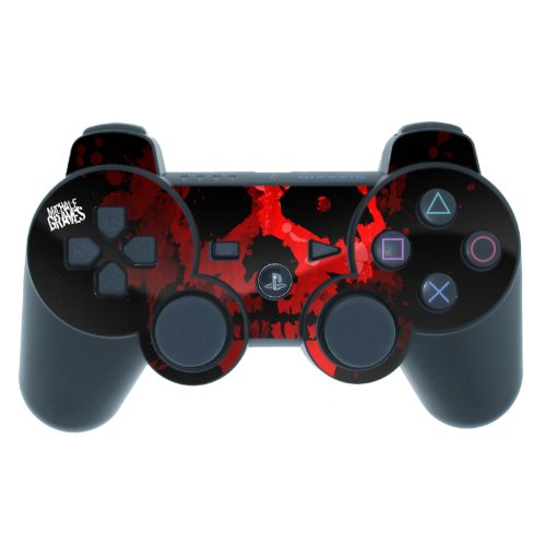 Red Skull Design PS3 Playstation 3 Controller Protector Skin Decal Sticker