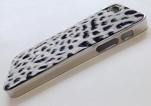 3D collier nacre couronne Glitter protection de couverture de caisse de Rhinestone de luxe de l'iPhone de téléphone 5 en or blanc