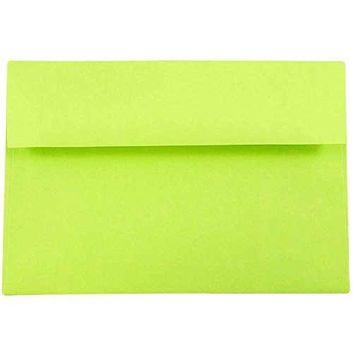 - JAM PAPER A8 Colored Invitation Envelopes - 5 1/2 x 8 1/8 - Ultra Lime Green - 50/Pack