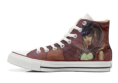 Star Unisex produit Italien Personnalisé artisanal Sex et Sneaker Imprimés Guerriera All Hi Converse chaussures coutume 5Sqwff