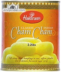 Haldiram's Cham Cham Canned Sweet 2.2lb Online Indian Grocery from Haldirams
