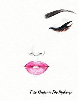 face diagram for makeup eye make up chart large notebook journals rh amazon com Makeup Products Makeup Bags