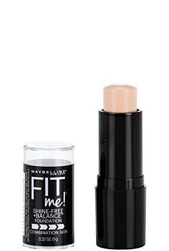 Maybelline New York Fit Me Shine-Free + Balance Stick Foundation, Porcelain, 0.32 oz.