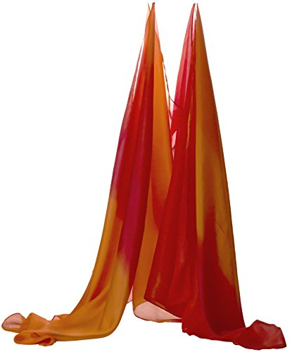 Red Play Tent - Sarah's Silks Giant Fire Playsilk - Super Long 9 Feet Long 3 Feet Wide - Fort Building - Play Tent - Group Games - Bed Canopy
