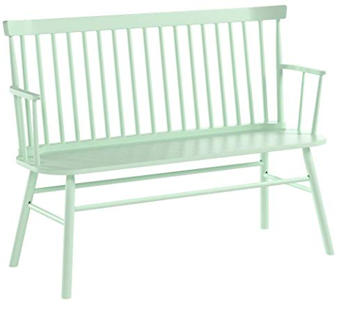 Target Marketing Systems Shelby Wooden Bench with Spindle Back and Arms, Mint by Target Marketing Systems (Image #3)