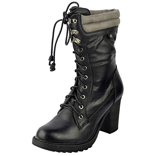 Ladies ankle boots Mid Calf Boot Schwarz