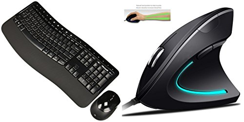 - Microsoft Wireless Comfort Desktop 5050 (PP4-00001) | Ergy - The Ergonomical Mouse - Optical USB Wired Vertical Mouse - 2.4 Ghz, 6 Buttons - Adjustable DPI
