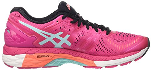 Asics Gel-Kayano 23 W, Zapatillas de Running Para Mujer Multicolor (Sport Pink/Aruba Blue/Flash Coral)