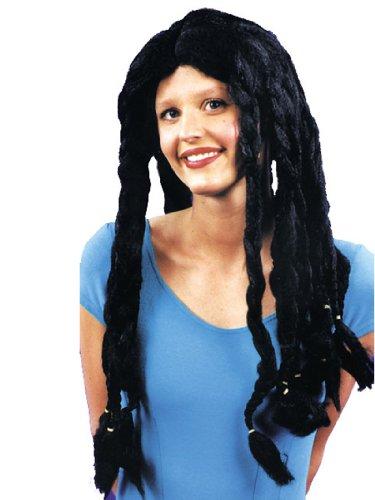 Theatre Costumes Accessory Black Dredlock Wig Rasta Rastafarian Dreads Reggae
