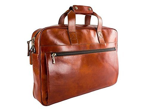 - Bosca Old Leather Single Gusset Stringer Bag (Amber)