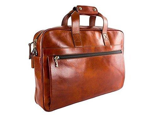 Bosca Men's Single Gusset Stringer Bag Amber One Size