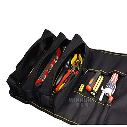 ZRK Tubular Multi-Purpose Tool Bag Thick Canvas Storage Roller Tool Bag Water and Electricity Maintenance Electrician Can Be ()