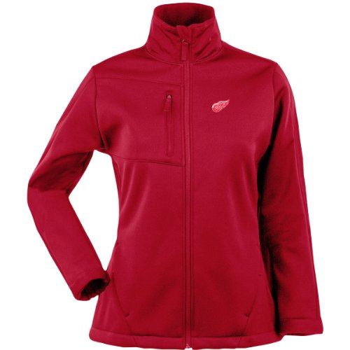 ANTIGUA WOMEN'S DETROIT RED WINGS TRAVERSE FLEECE BACK FULL-ZIP JACKET (Antigua Detroit Red Wings Jacket)