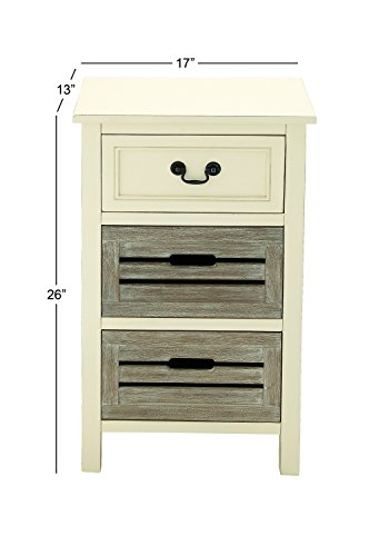 """Deco 79 96341 Wood Side Table, 17"""" x 28"""""""