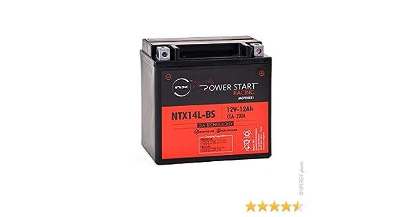 Bater/ía moto YTX14L-BS NX GTX14L-BS 12V 12Ah
