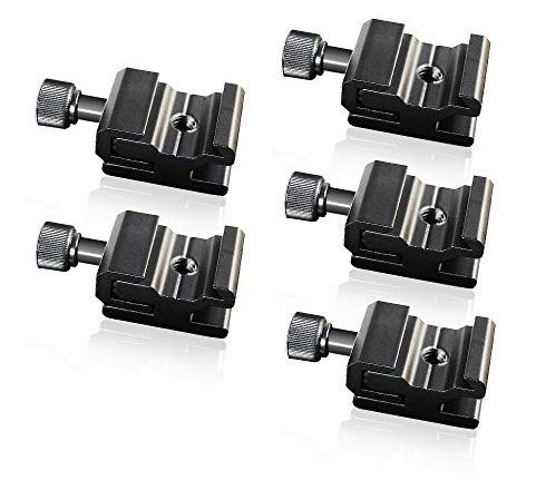 LimoStudio 5Pcs Hot Shoe Flash to Bracket/Stand Mount Adapter Trigger with 1/4
