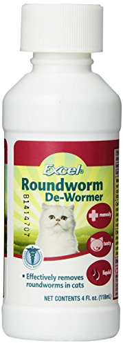 Excel Roundworm Liquid Cat De-Wormer, 4-Ounce (2 Pack)