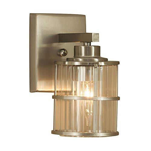Allen + Roth Kenross Bushed Nickel Sconce. #vanity #sconce #vanitylight #brushednickel #coastalstyle #vanitysconce