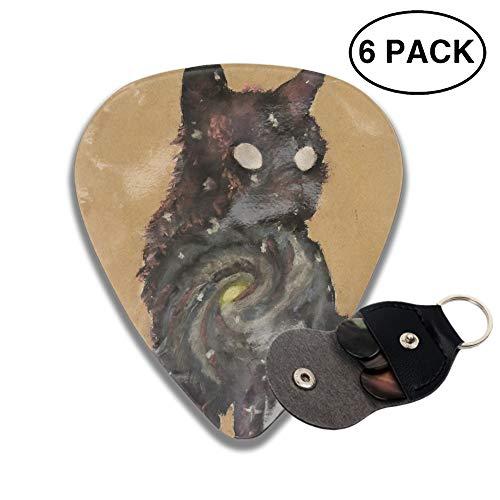 Celluloid Guitar Picks 3D Printed Pastel Brown Cat Best Guitar Bass Gift For Beginner -6pcs