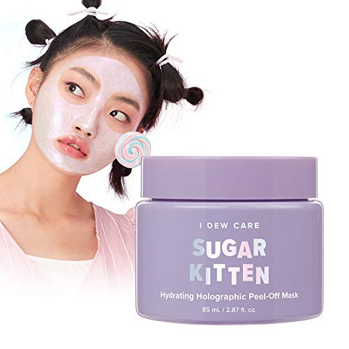I DEW CARE Sugar Kitten Mask 2.87 Ounces, Peel-Off Mask, Infused With Real Ruby And Pearl Powder, Shimmering Iridescent Emerald Color, Leaves Skin Glowing, Hydrate & Moisturize