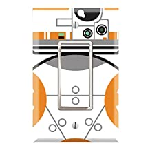 Single Rocker Wall Switch/Outlet Cover Plate Decor Wallplate - Star Wars BB8 BB-8