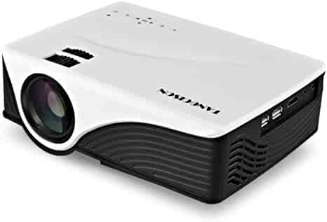 TANGCISON Home Projector Video Projector, LCD Mini Home Projector 1500ANSI Luminous Efficiency 150