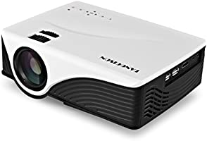 "TANGCISON Home Projector Video Projector, LED Projector 3300Luminous 280"" HD 1080P Portable Projector Home Theater Video Mini Projector Multimedia Home Theater Movies Projector"