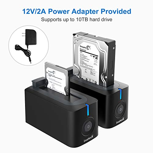 Inateck USB 3.0 Hard Drives Docking Station for 2.5 Inch and 3.5 Inch HDD SSD SATA (SATA I / II / III), Support UASP and 10TB Drives, Optimized for SSD(FD1003) by Inateck (Image #1)