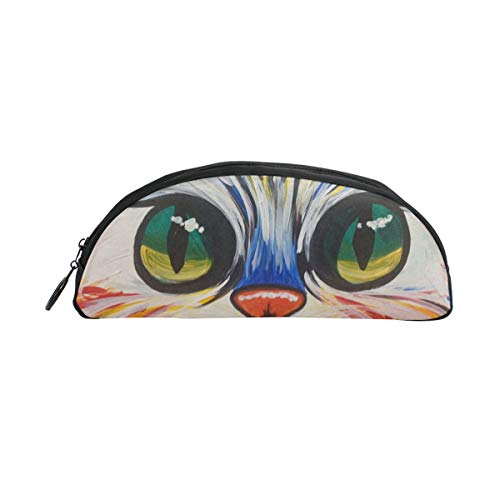 HengZhe Pencil Case Colorful Kitty Pen Bag Cosmetic Pouch Students Stationery Holder Office -