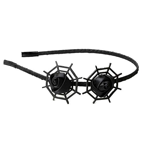 Gothic black cobweb hair hoop headband for Halloween costume Q6H7 -