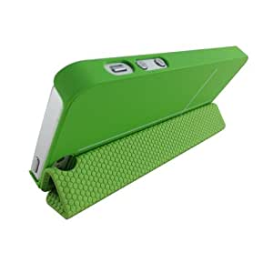 Ultra Slim Magnetic Smart Cover Case Stand Phone Case for iPhone 5- Green