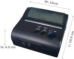 GzPuluz Impresora de Recibos térmica portátil Bluetooth POS-8001LD ...