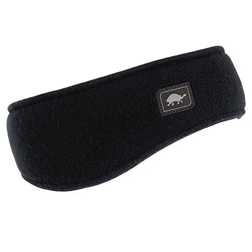 (Original Turtle Fur Fleece - Earband, Heavyweight Fleece Headband, Black)