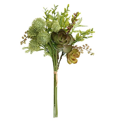 Jasming Artificial Fern Leaves,Lotus,Chestnut Berries,Blossom Fillers Mixed Chrysanthemum Bush Artificial Succulents Picks for Home, Wedding, Restaurant and Office Decoration Arrangement (A - 15.4 Inch Berry