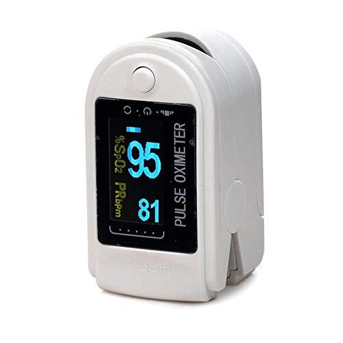 Oximetro Digital de Dedo Medição Pulso e Saturação de Oxigênio Sinais Vitais CONTEC CMS50D + Bolsa + Cordão + Case (Branco)