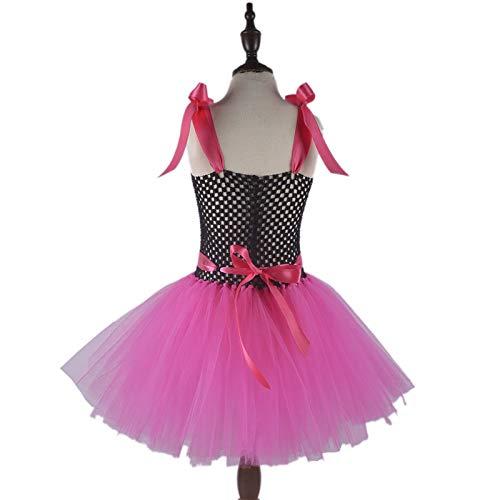 99c9a28f72 Amazon.com: Hot Pink Girl Superhero Costume Set Handmade Girls Tutu Dress  with Mask 1set: Handmade