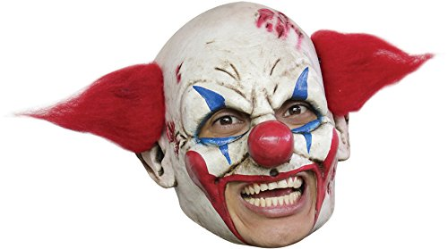 CLOWN DLX CHINLESS MASK RED