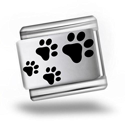 dog-paw-prints-laser-etched-italian-charm-bracelet-link