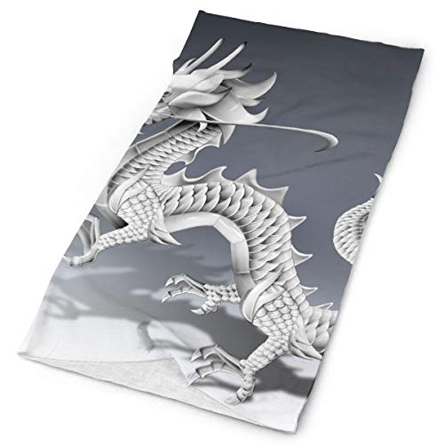 Chinese Dragon Sketch Unisex Fashion Quick-Drying Microfiber Headdress Outdoor Magic Scarf Neck Neck Scarf Hooded Scarf Super Soft Handle