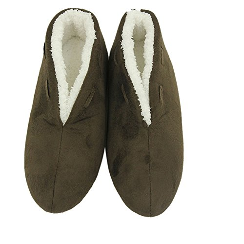 Forfoot on Slip Slippers Warm Indoor Non Shoes Plush Boots Women's Slip Brown House Sr0n4S
