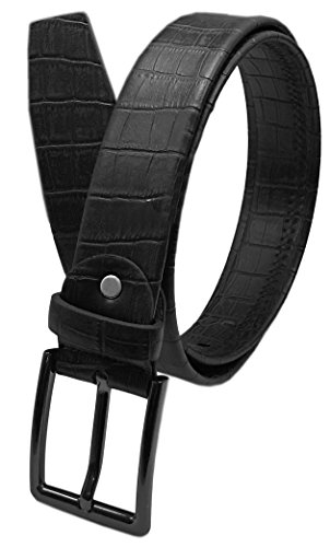 """Luna Sosano Women's 1.5"""" Wide Genuine Leather Stitch Buckle Belt - Removable Buckle (7 Colors / Size From Small to 5XL!)"""