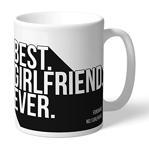 Newcastle United Official Personalized FC Best Girlfriend Ever Mug - FREE PERSONALISATION by Newcastle United