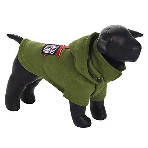 Green 42 cm Green 42 cm Beeztees  Dog One  Dog Hoodie, 42 cm, Green