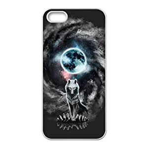 Custom Retro Deer Tribal Totem Wolf Pattern Plastic Hard Case for iPhone 5 and iphone 5s