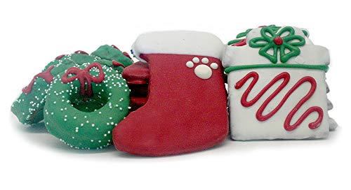Tail Bangers All Natural, Human Grade Dog Treats Cookie Assortment - 18 Cookies (Christmas Day)