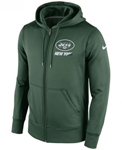 New York Jets Nike OnField KO Sideline Full Zip Hooded Sweatshirt (Small)