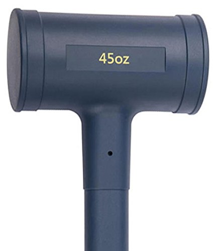 Estwing Dead Blow Hammer - 45 oz Mallet with No-Mar Polyurethane & Cushion Grip Handle - CCD45