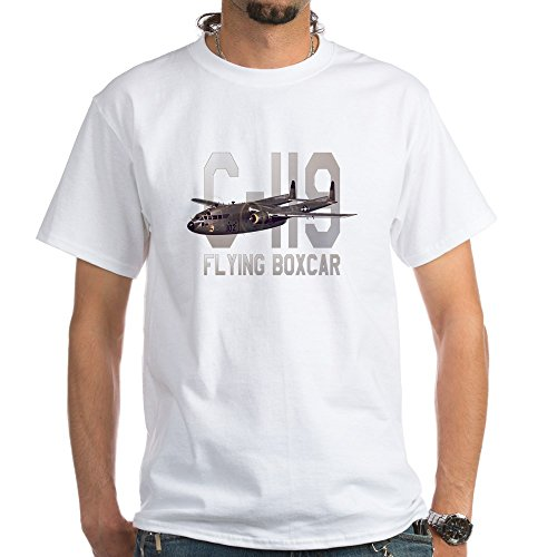 CafePress C-119 Flying Boxcar White T-Shirt - 100% Cotton T-Shirt, (White Boxcar)